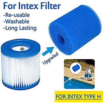 cheerfulus-123 2 Pack Foam Pool Filter,Reusable Washable Sponge Pool Cartridge Filter Foam Pool Spa Cleaning Accessories Filters, Pumps & Accessories Pools, Hot Tubs & Supplies
