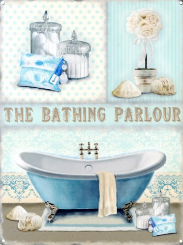 Bad Badezimmer Bild (The Bathing Parlour Blechschild (40x30cm))