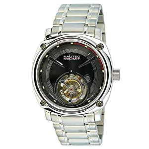Nautec No Limit – Orologio da polso per uomo XL Victory Analog mano ascensore in acciaio inox TB VC mc-ne-ststst BK