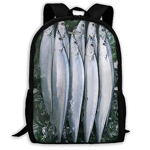 Sghshsgh zaino scuola,zaini e borse sportive,backpack for men women,frozen alaska pollock fishes backpacks hiking laptop backpack travel large shoulder bags for school shopping outdoor sports