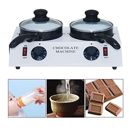 Electric Chocolate Melting Machine Ceramic Non-stick Pot Tempering Cylinder Melter Pan (2 Melting Pot)