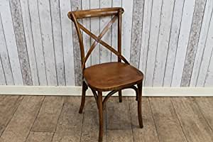 ELM CROSS BACK BENTWOOD KITCHEN DINING CHAIR WITH SOLID ELM SEAT by Peppermill Antiques