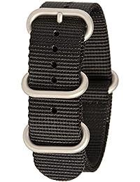 Bertucci b-211N G10Hombres del reloj inteligente de nailon negro reloj banda