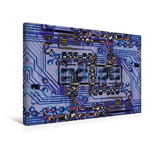 Calvendo Premium Textil-Leinwand 45 cm x 30 cm Quer Eine Leiterplatte oder winterlicher Stadtplan. | Wandbild, Bild auf Keilrahmen, Fertigbild auf Echter im Gleichen Bild Technologie Technologie