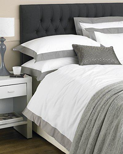 Harvard 200Fadenzahl Perkal-Bettwäsche Quilt Bettbezug Set Bettwäsche, 100% Baumwolle, Weiß/Mokka, Betten (Set Liege Quilt)