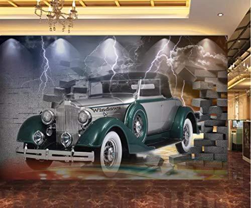 FCFLXJ Wandbild (selbstklebend) Thunderbolt Car Kinderzimmer Wohnzimmer Restaurant Bar Cafe Hall Tv Hintergrundbild (B) 500X (H) 375Cm | 10 Streifen -