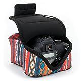 Custodia per reflex / DSLR / SLR da USA Gear: Borsa con protezione in neoprene, passante per cintura, con motivo bohemian e custodia per accessori adatta per Canon EOS 1300D, Nikon D3400 e altro