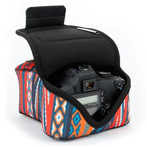 USA GEAR Custodia per Fotocamera Digitale DSLR Custodia per Fotocamera SLR con Protezione Neoprene Cinghia per Cintura e Accessori Compatibile con