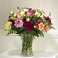 Mixed Carnation and Spray Carnation Bouquet and Chocolates With Our 14 Day Freshness Guarantee.