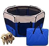 Outsunny PawHut Box per Animali Domestici Pieghevole, Blu Scuro, 125x125x58cm