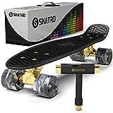Skatro - Mini-Cruiser, Kunststoff-Board im Retro-Stil