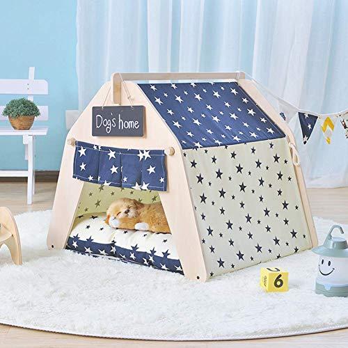 WRQ977 Familie Flat Top Lace Pet Zelt Waschbar Hundebett Mongolische Jurte Süße Katzenstreu Vier Jahreszeiten Haustiere Lieferungen,StarModels(nopad),L