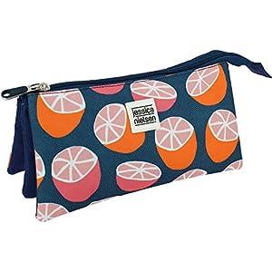 Grafoplás-Citrics, Estuche Escolar Triple, Color Naranja (37540627)