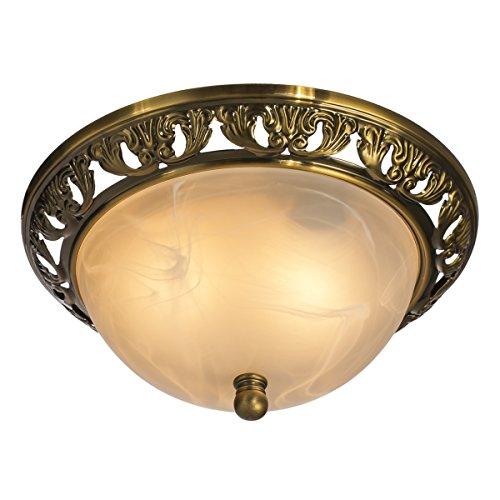 QIRUI Stile classico doppio incasso Lampade a soffitto con vetro