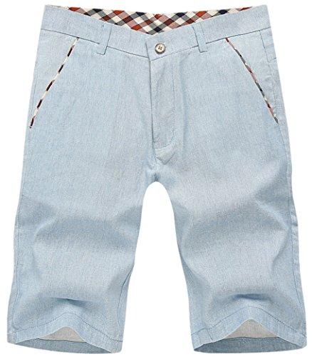 Panegy, stile Casual, da uomo, in cotone, per pantaloni, pantaloncini da mare per pantaloni, 28-38 baule, 3 colori disponibili Blu