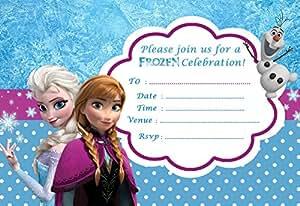 Disney La reine des neiges Taille Party V3–A5–Lot de 10 Invitations sur Papier brillant