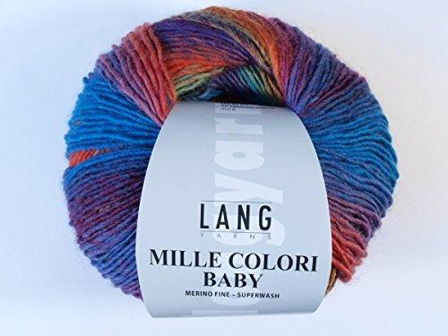 Lang Yarns 50 g Mille Colori Baby Fb. 50 Wolle Strickgarn Häkelgarn * für Bekleidung, Socken und Accessoires * NEU -