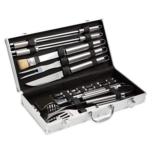 Preisvergleich Produktbild Bruzzzler BBQ Profi-Grillbesteck,  Besteck für Grill,  Silber