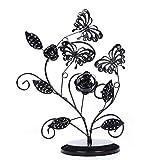 Bigood Papillon Fleur Présentoir Bijoux Support Collier Boucle d'oreille Vogue Rangement