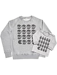 Spoilt Rotten Sweaters SR - Milk & Beer Munch II Conjunto de Regalo Para Padres y Bebés - Padre Suéter & Bebé Suéter