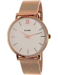 Cluse Damen-Armbanduhr Analog Quarz Edelstahl CL30013