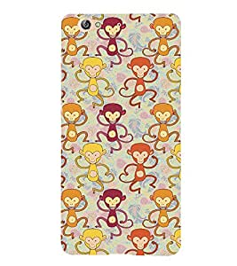 Fabcase drunken monkey dancing babbon multicolour design Designer Back Case Cover for Gionee S6