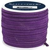 Realeather Crafts Leather Suede Lace Spool-Royal Purple