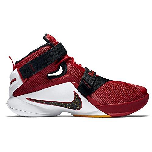 Nike Herren Lebron Soldier Ix Basketballschuhe Rot / Schwarz / Weiß (Universität Rot / Schwarz-Tm Rd-weiß)