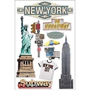 New York 3-d Stickers-