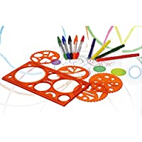 UMKYTOYS Spirograph Set For Kids Classic Spiral Design Drawing Set 37 Piece With Pens