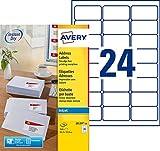 AVERY - Pochette de 240 étiquettes autocollantes ''Montimbrenligne'', Personnalisables et imprimables, Format 63,5 x 33,9 mm, Impression jet d'encre, (J8159-10)