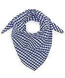 Tracht & Pracht - Uomo e Donna 100% cotone - Fazzoletto da collo a quadri - Foulard tirolese Bandana Bavarese Tradizionale Trachtentuch - blu