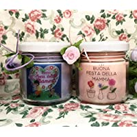 Festa della Mamma 2 vasetti con candele di cera di soia e oli essenziali Regalo per la Mamma Ti voglio bene Mamma La migliore Mamma Regali per la mamma Regalo di Natale