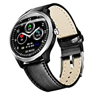 WYBFBYQ Smart Sports Bracelet ECG Smartwatches,Activity Fitness Tracker,Pedometer Heart rate detection Anti-lost Task Reminder Phone message,Smartwatch Men Women,Black1