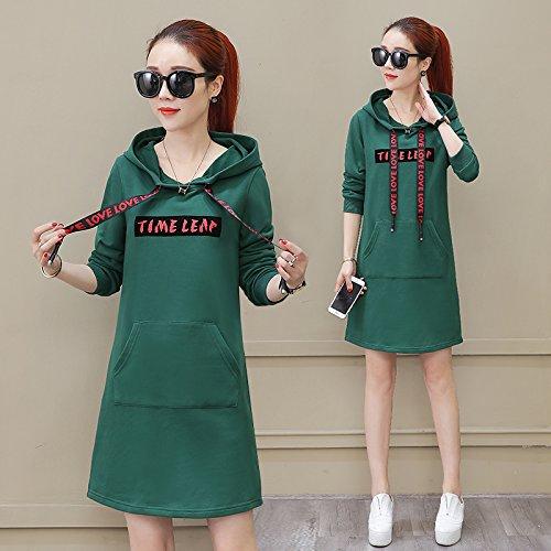 Xing Lin Felpa Con Cappuccio Per Uomo E Donna Abbigliamento Sportivo Casual Primavera Femminile Nuovo Maglione Lungo Cappuccio Con Cappuccio Pullover green