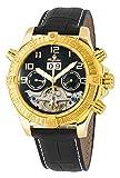 Burgmeister Armbanduhr für Herren mit Analog Anzeige, Automatik-Uhr und Lederarmband - Wasserdichte Herrenuhr mit zeitlosem, schickem Design - klassische Uhr für Männer - BM356-222 Köniz