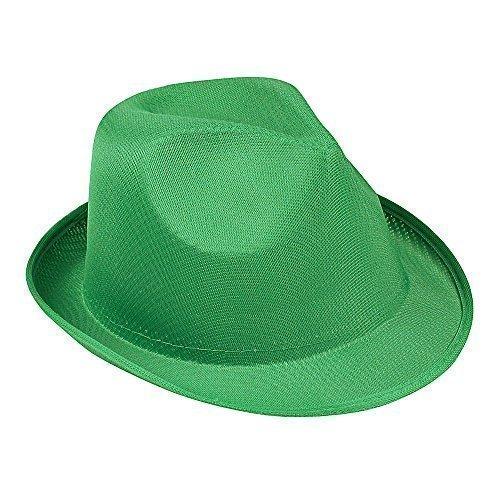 Damen & Herren Sommer SONNEN HUT - Fedora Panama Trilby Strohhut Stil Strand Hut Unisex, 10 x Grün, nicht (Gelb Fedora Erwachsenen Hut)
