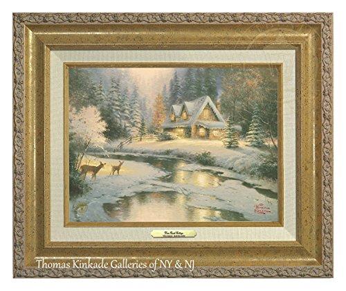 Thomas Kinkade Deer Creek Cottage 22,9x 30,5cm Canvas Classic, gold, 17.5Lx14.5H Deer Creek Cottage