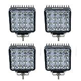 48W LED Offroad Arbeitsscheinwerfer weiß 12V 24V 4560 Lumen Flutlicht Reflektor worklight Scheinwerfer Arbeitslicht SUV UTV ATV Arbeitslampe Traktor Bagger (4 Stück)