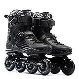 Erwachsene Inline-Skates der Schlittschuhe Für Männer und Frauen Skaten Die Erwachsenen Erwachsenen Professionellen Rollschuhe der Schuhschuhe,Black-44