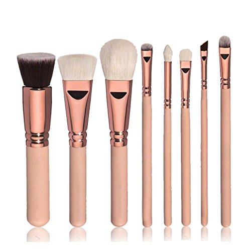 pinceaux de maquillage, Yogogo 8pcs Coffret Essentiels Pinceaux de maquillage professionnels Cosmétique Brosse à paupières Or A
