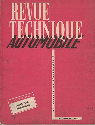 Revue technique automobile, n° 103, novembre 1954 par  Collectif (Magazine)