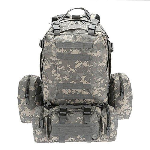 Jomolata 50L Outdoor Military Molle Taktische Tasche Rucksack Rucksäcke Vintage Wandern Camping Camouflage Wasser Taschen 600D ACU