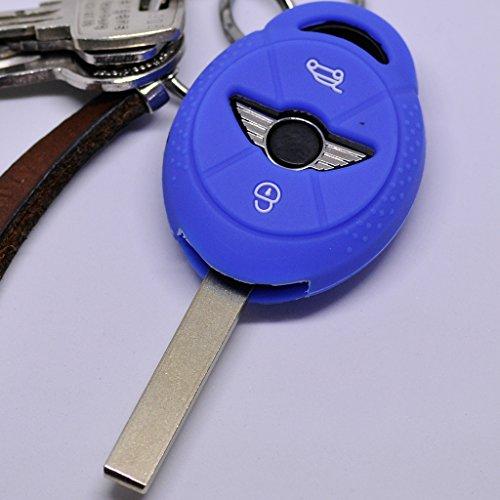Soft Case Schutz Hülle Auto Schlüssel für Mini ONE Cooper Cabrio Clubman/Farbe Blau Cabrio Remote-auto