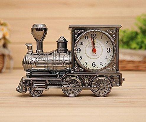 UChic 1 STÜCKE Neuheit Retro Zug Motor Stil Uhren Schreibtisch Dekoration Mechanische Wecker Digitale Lokomotive Home Office Decor Kinder Geschenk -