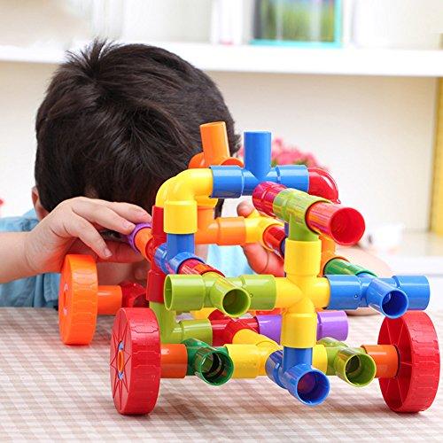 Elegante Bauklötze für Kleinkinder, für Lernschläuche, Kunststoff, Wasserpfeife, Bau-Spielzeug, 72 Stück Halloween-Taschen für Kinder