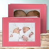 Baby Fotoalbum Zwillinge, Boo-Zwillinge 28 Seiten, Hardcover 290x222 mm personalisierbar, Rot