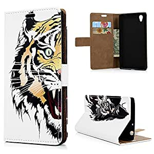 Sony Xperia L1 Case, YOKIRIN PU Leather Wallet Case Cover With Magnetic Card ID Holder Flip Case for Sony Xperia L1, Tiger