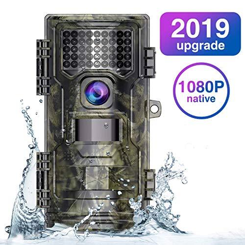 WiMiUS Wildkameras Wildkamera Fotofalle 1080P HD mit Bewegungsmelder, Trail Kamera 125°Weitwinkel Wasserdicht Jagdkamera, H1-Grün,