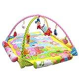 Sanqing Baby Play Gym, Cartoon Schafe Neugeborene Aktivität Spielmatte Puzzle Frühes Lernzentrum Musik Krabbeln Decke Fitness Rack Spielzeug,Yellow